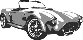 Retro auto in formaat 2 Royalty-vrije Stock Afbeelding