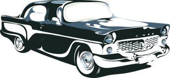 Retro auto in formaat 1 stock illustratie