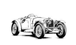 Retro- Auto gemalte Tinte Schwarzweiss Lizenzfreies Stockbild