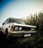 Retro auto grunge stijl Royalty-vrije Stock Foto's