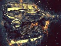 Retro- Auto künstlerisch Stockfoto