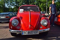 Retro auto's in Lviv royalty-vrije stock fotografie