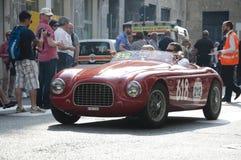 Retro auto's Mille Miglia van het Amousras royalty-vrije stock afbeeldingen