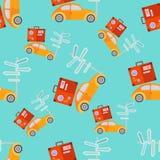 Retro auto's naadloos patroon royalty-vrije illustratie