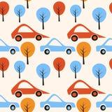 Retro auto'sachtergrond vector illustratie