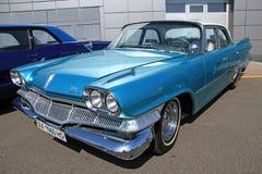 Retro auto show. Blue dodge Royalty Free Stock Photography