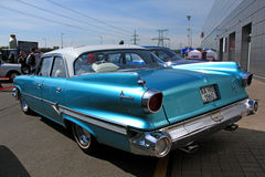 Retro auto show. Blue dodge Stock Images