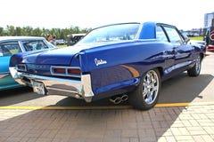 Retro auto show. Blue Pontiac Catalina Stock Photography