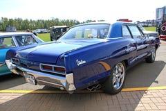 Retro auto show. Blue Pontiac Catalina stock images