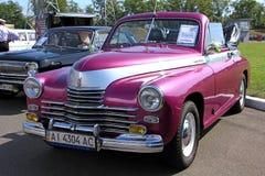 Retro auto show. GAZ M20 Pobeda (Soviet-made autom Royalty Free Stock Images