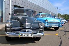 Retro auto show. GAZ M20 Pobeda (Soviet-made autom Stock Photo