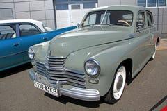 Retro auto show. GAZ M20 Pobeda (Soviet-made autom Royalty Free Stock Photo