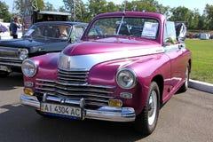 Retro auto show. GAZ M20 Pobeda (Soviet-made autom Stock Images