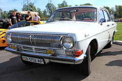 Retro auto show. GAZ Volga (Soviet-made automobile Royalty Free Stock Photography