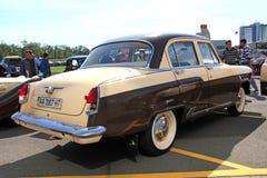 Retro auto show. GAZ Volga (Soviet-made automobile Royalty Free Stock Image