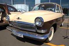 Retro auto show. GAZ Volga (Soviet-made automobile Stock Photography