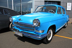 Retro auto show. GAZ Volga (Soviet-made automobile Stock Photos
