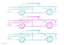 Retro auto - vettore Fotografia Stock