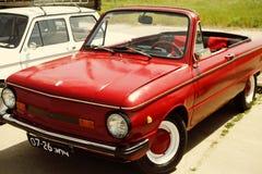 Retro- Auto ZAZ der schönen Weinlese Stockfoto