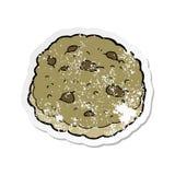 retro autoadesivo afflitto di un fumetto del biscotto di pepita di cioccolato illustrazione di stock