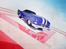 Retro autoaffiche Royalty-vrije Illustratie