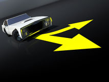 Retro autoaffiche Vector Illustratie