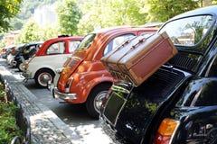 Retro- Autoausstellung Stockbild