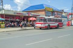 Retro autobus przy Rosja zdjęcie royalty free