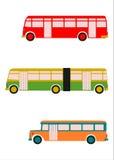 Retro autobusu set. Fotografia Royalty Free