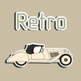 Retro autocabriolet sticker Stock Foto