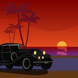 Retro- Autohintergrund der Weinlese Lizenzfreie Stockbilder