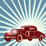 Retro- Autohintergrund der Weinlese Lizenzfreies Stockfoto