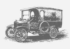 Retro automobile. Graffiti style,  illustration Royalty Free Stock Photo