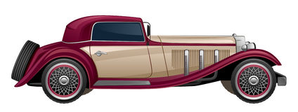 Retro automobile royalty illustrazione gratis