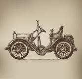Retro Automobile. Authors illustration in vector Stock Photography