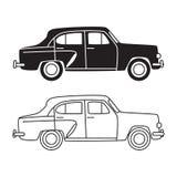 Retro automobile classica d'annata Fotografia Stock Libera da Diritti