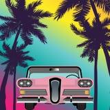 Retro automobile classica di estate Immagini Stock Libere da Diritti
