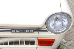 Retro automobile DAF 33, Paesi Bassi di logo Immagini Stock
