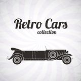 Retro automobile del cabriolet delle limousine, raccolta d'annata Fotografia Stock Libera da Diritti