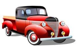 Retro automobile del carico vecchio su fondo bianco Immagini Stock