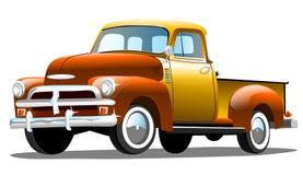 Retro automobile del carico vecchio su fondo bianco Fotografia Stock Libera da Diritti