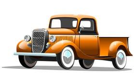 Retro automobile del carico vecchio su fondo bianco Immagine Stock Libera da Diritti