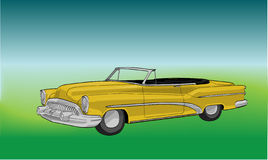 Retro automobile del yelow royalty illustrazione gratis