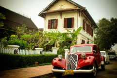 Retro automobile di Luangprabang Fotografia Stock Libera da Diritti