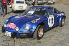Retro automobile di Renault Alpine Fotografia Stock