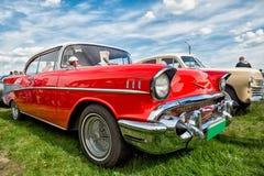 Retro automobile di trasporto d'annata Fotografia Stock