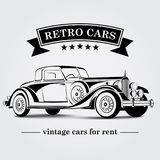 Retro automobile Logo Abstract Lines Illustrazione di vettore illustrazione di stock
