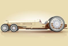 Retro automobile lunga per i notabili Fotografia Stock