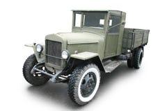 Retro automobile militare Fotografie Stock Libere da Diritti