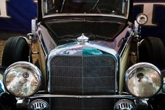 Retro automobile nera Fotografia Stock